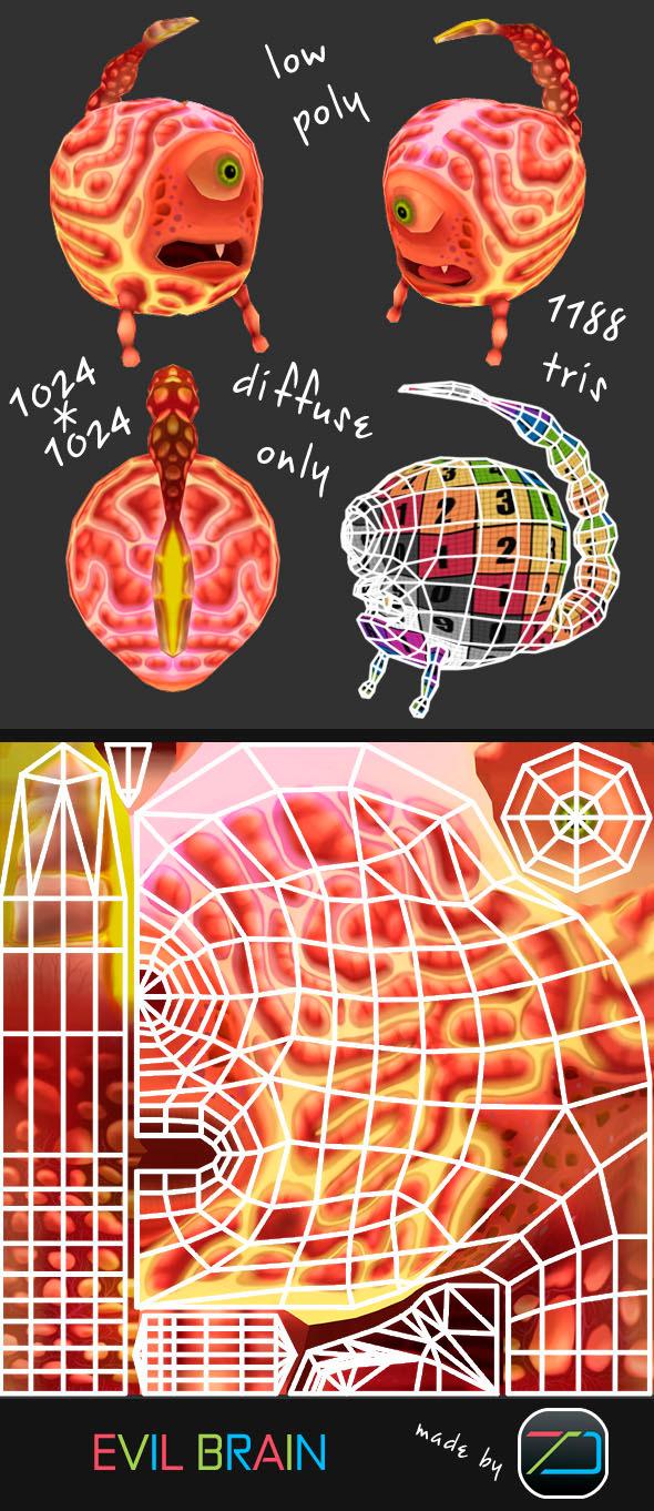 3DOcean Evil Brain 3794677