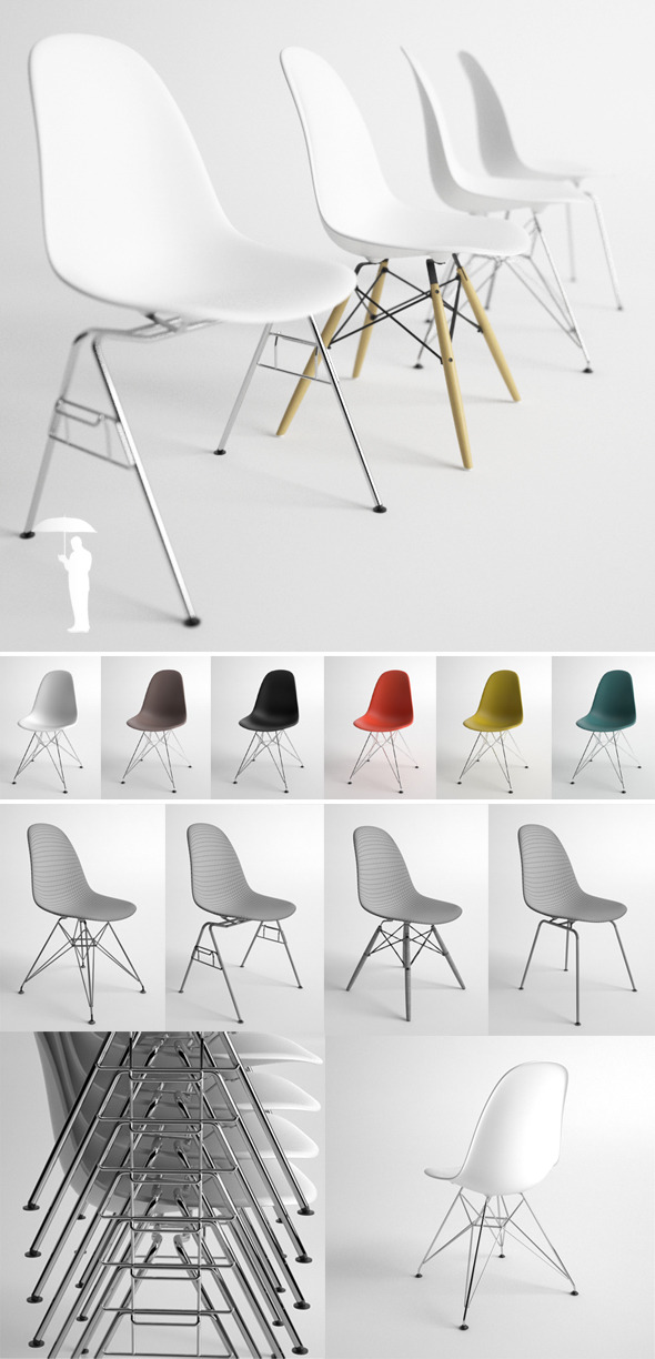 Eames Plastic Side Chair 4in1 DSW DSX DSR DSS