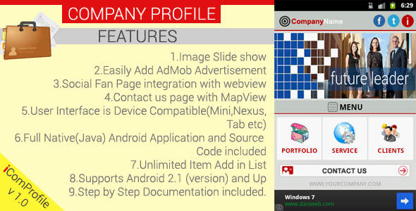 CodeCanyon Company Profile Android App Template 3791434