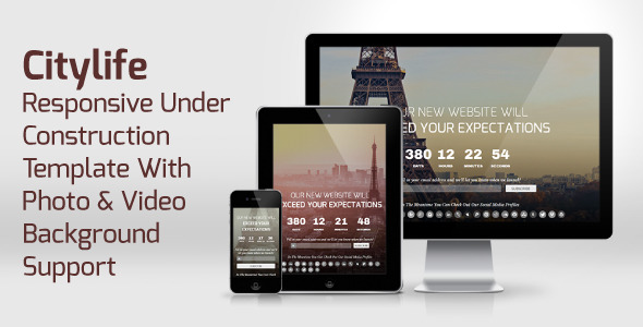 CityLife - Responsive Under Construction Template