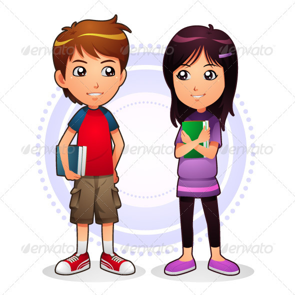 Boy & Girl - People Characters