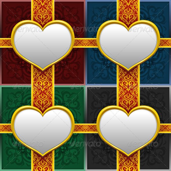 Heart Background Template - Backgrounds Decorative