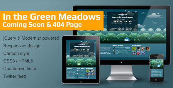 In the Green Meadows - Coming Soon & 404 Page