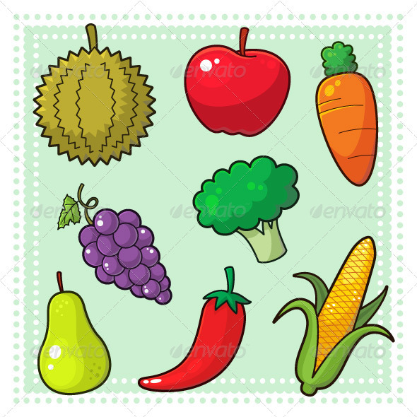 GraphicRiver Fruits & Vegetables 01 3795196