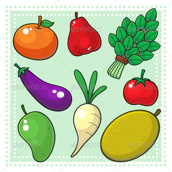 GraphicRiver Fruits & Vegetables 02 3795200