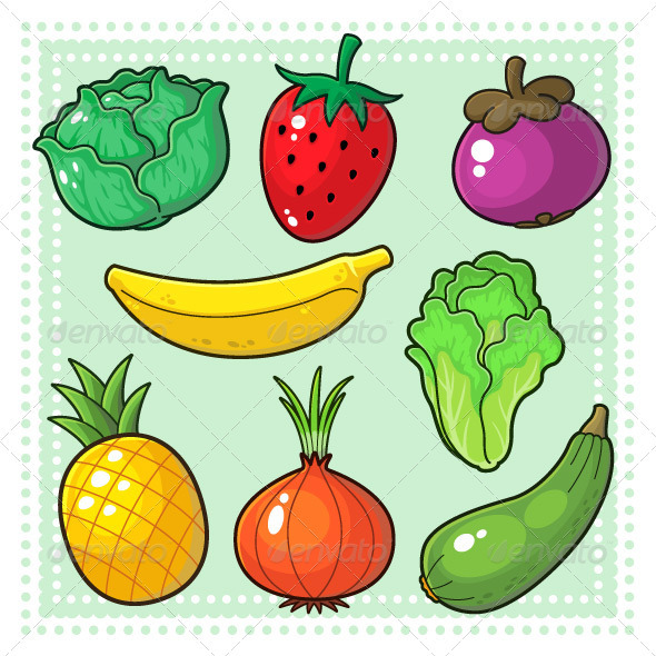 GraphicRiver Fruits & Vegetables 03 3795201