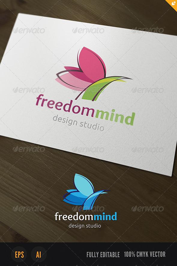 GraphicRiver Freedom Mind Logo 3795369