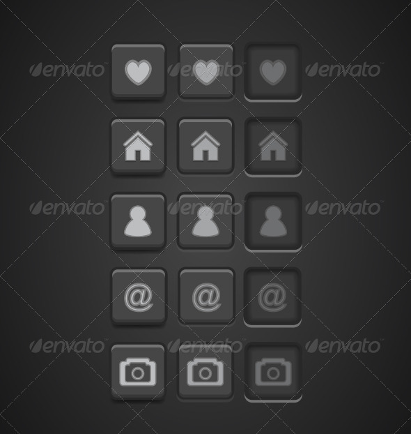 GraphicRiver Black Vector Buttons 3795401