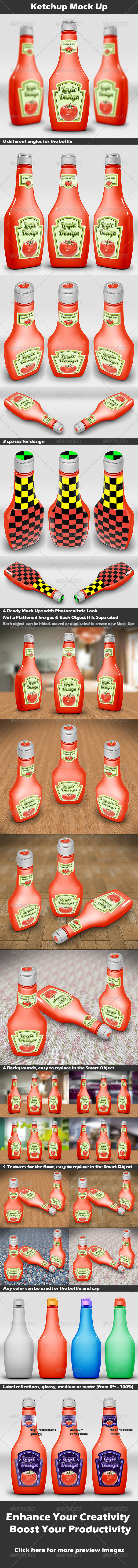 GraphicRiver Ketchup Mock Up 3795593
