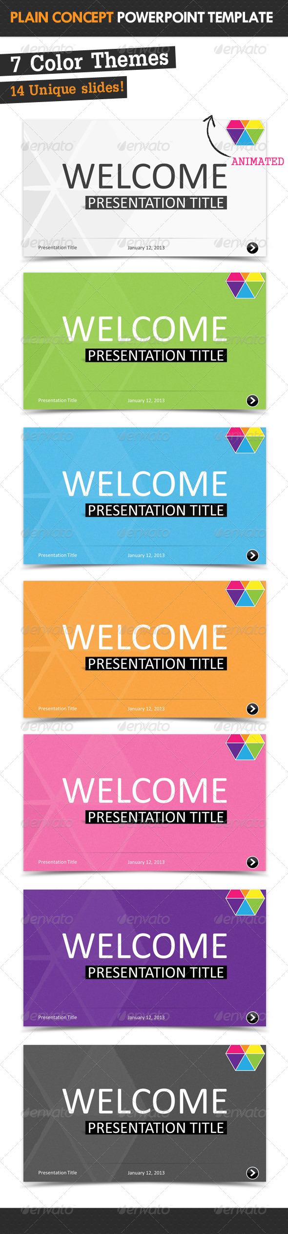 GraphicRiver Plain Concept Powerpoint Template 3700318