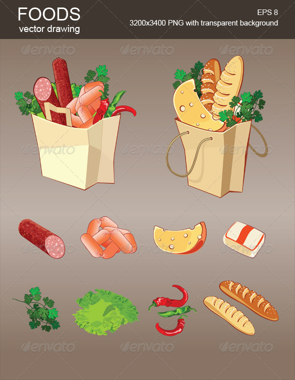 GraphicRiver Vector Foods 3795728