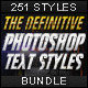 [BUNDLE] The Definitive Photoshop Text Styles - GraphicRiver Item for Sale
