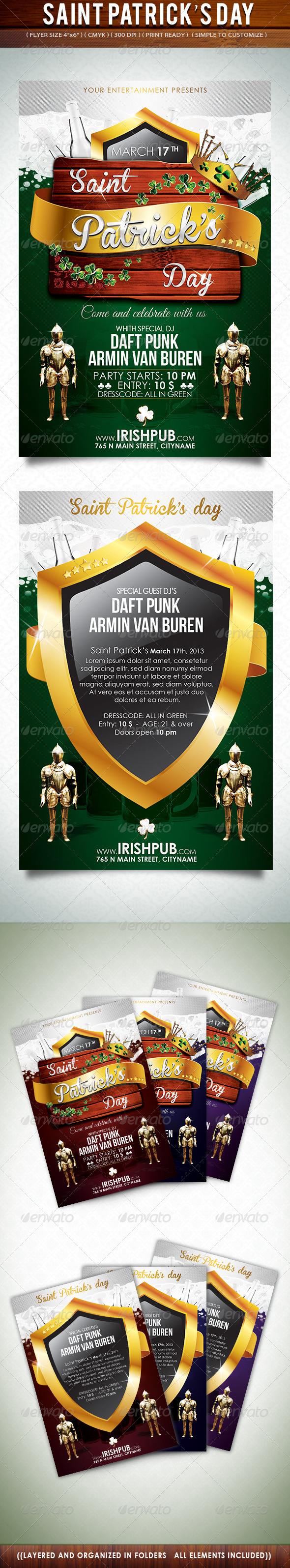 GraphicRiver Saint Patrick s Day Flyer 3703452