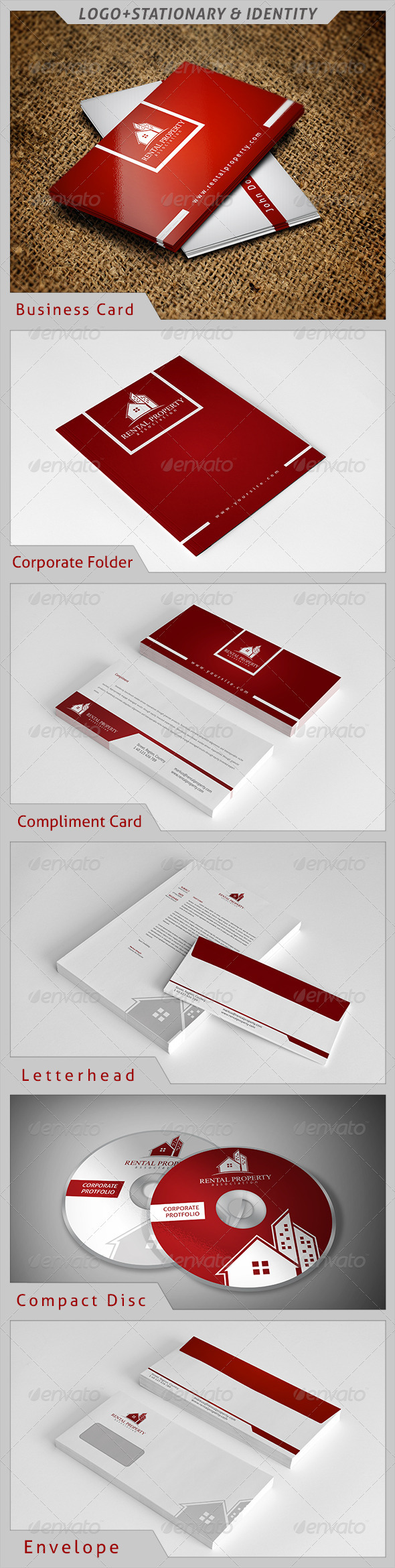 Rental Property Corporate Identity - Stationery Print Templates