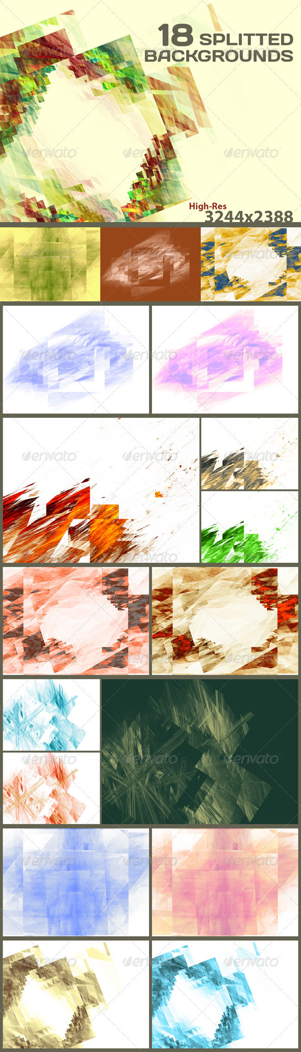 GraphicRiver 18 Splitted Backgrounds 3797379