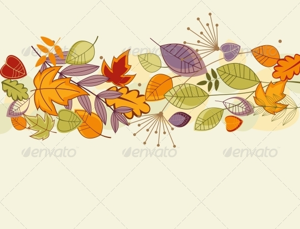 GraphicRiver Autumn leaves background 3797581