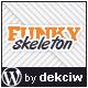 Funky Skeleton - responsive WordPress theme