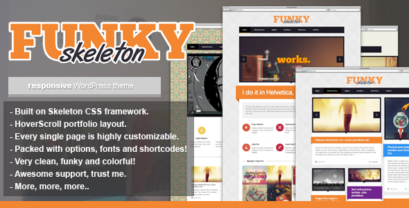 Funky Skeleton - responsive WordPress theme