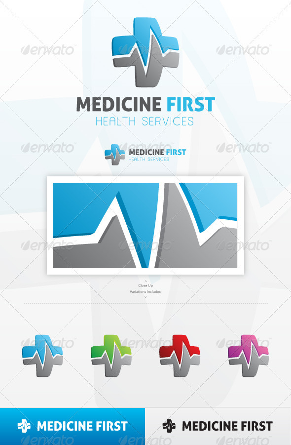 GraphicRiver Medicine First Logo 3797728