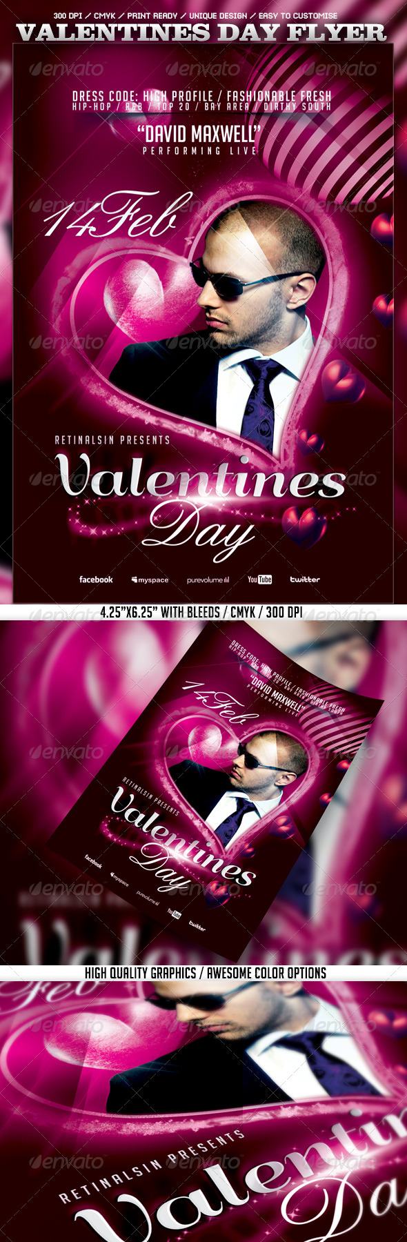 Valentines Day Flyer Template - Events Flyers