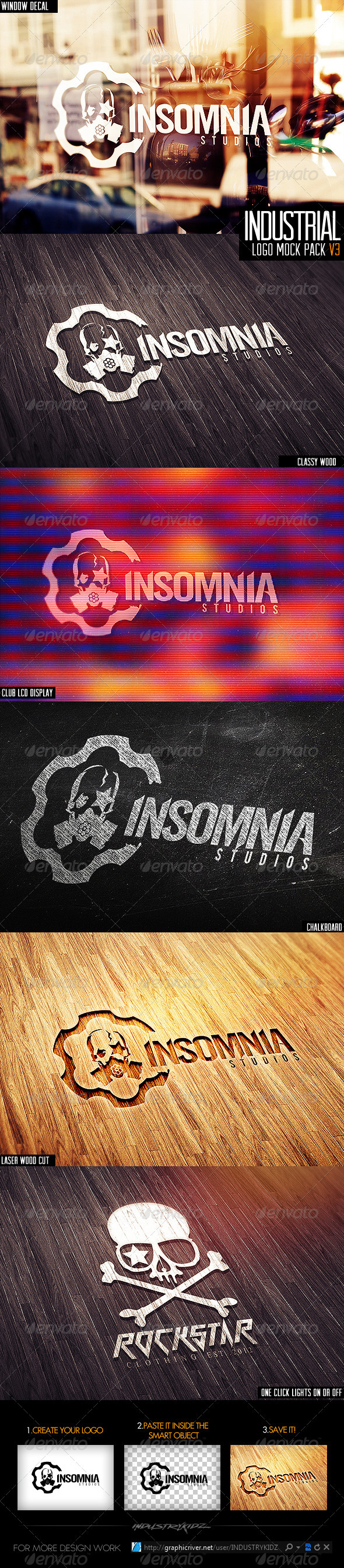 GraphicRiver Industrial Photorealistic Logo Mock-Up V3 3797777