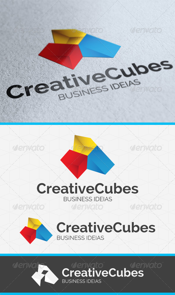 GraphicRiver Creative Cubes Logo Template 3797842