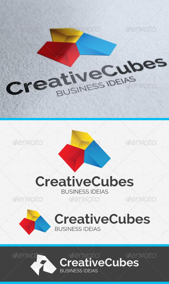 Creative Cubes Logo Template