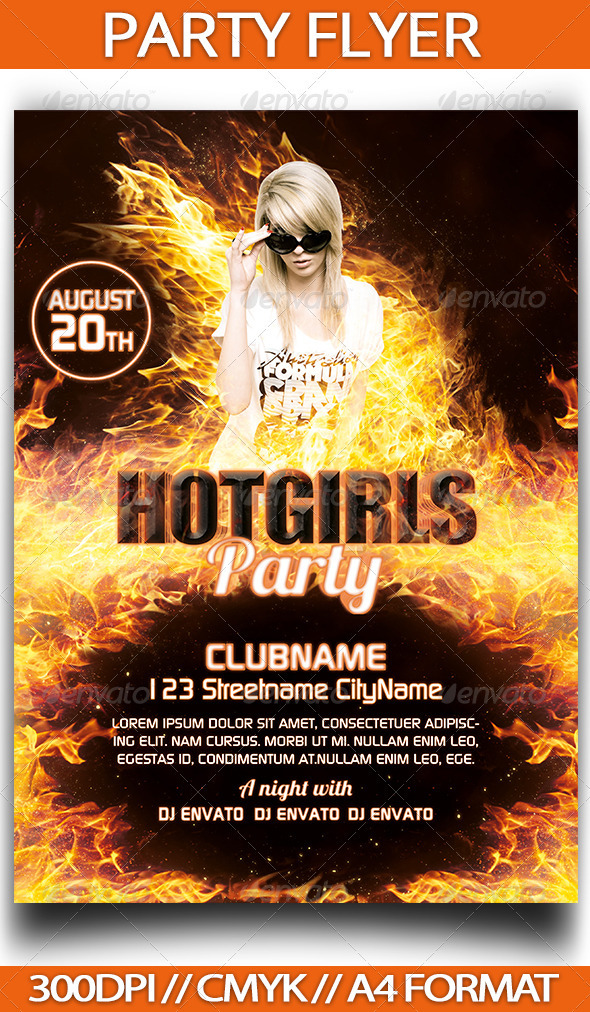 GraphicRiver Party Flyer 3731262