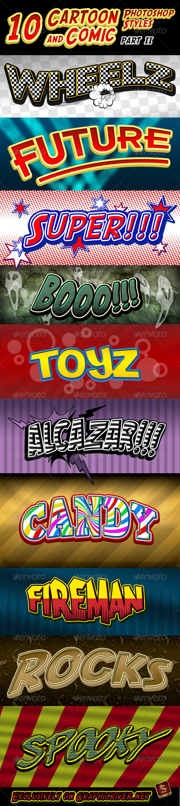 GraphicRiver Cartoon and Comic Book Styles Part 2 409243