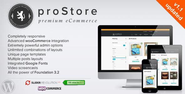 ThemeForest proStore Premium eCommerce for WordPress 3555291