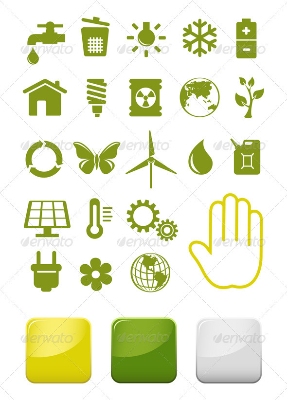 GraphicRiver Environment And Ecology Icons Set 3777122