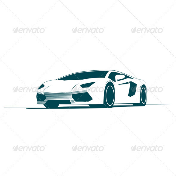 GraphicRiver White Sport Car and Racing 3799423