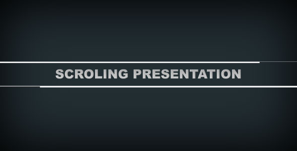 After Effects Project - VideoHive Scroling Presentation 409399