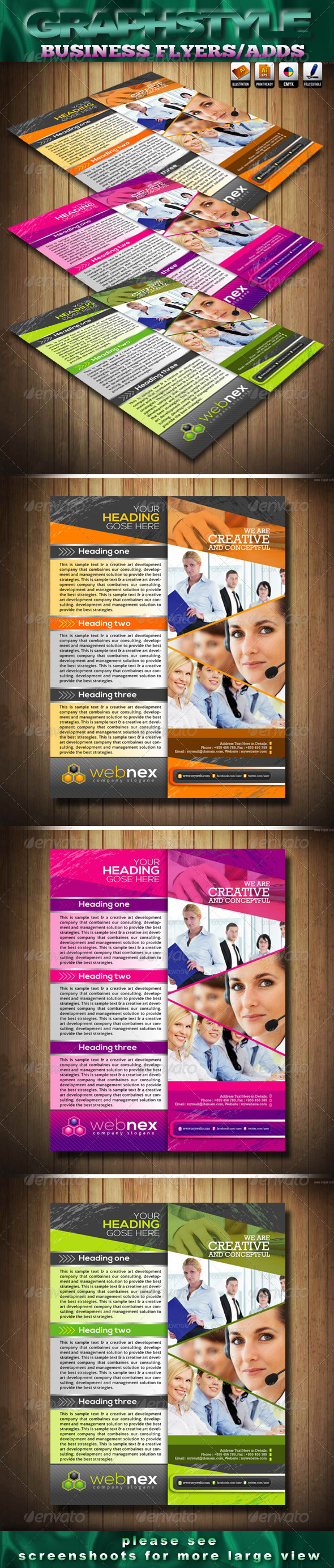 GraphicRiver Webnex Business Flyers Adds 3800281