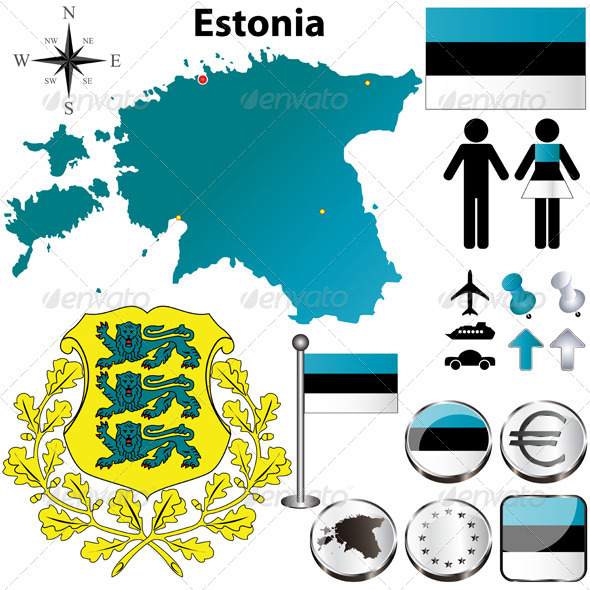 GraphicRiver Estonia Map 3800446