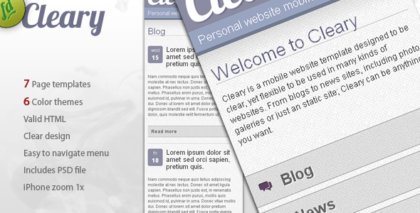 Cleary - Multipurpose Liquid Mobile Template