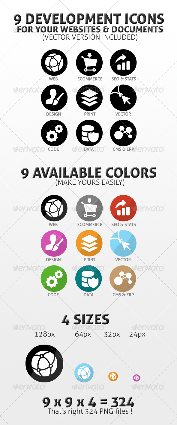 GraphicRiver Development & Design Icons Pack 409554