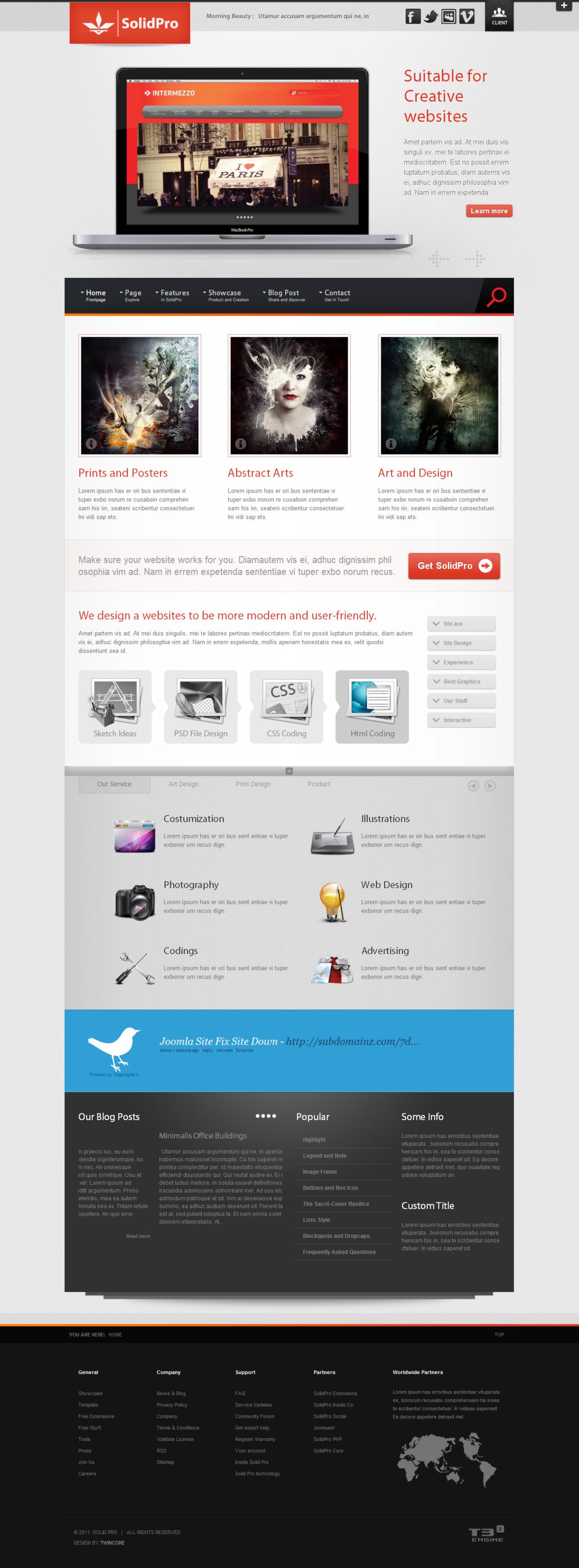 Solid Pro - Creative Joomla