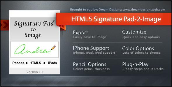 CodeCanyon HTML5 Signature Pad to Image 409605