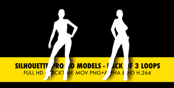 Silhouette Models Pack Of 3 Loops