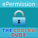ePermission - Codeigniter toestemming bibliotheek . - WorldWideScripts.net Item te koop