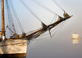 Old Sailing Ship in Foggy Harbor - PhotoDune Item for Sale