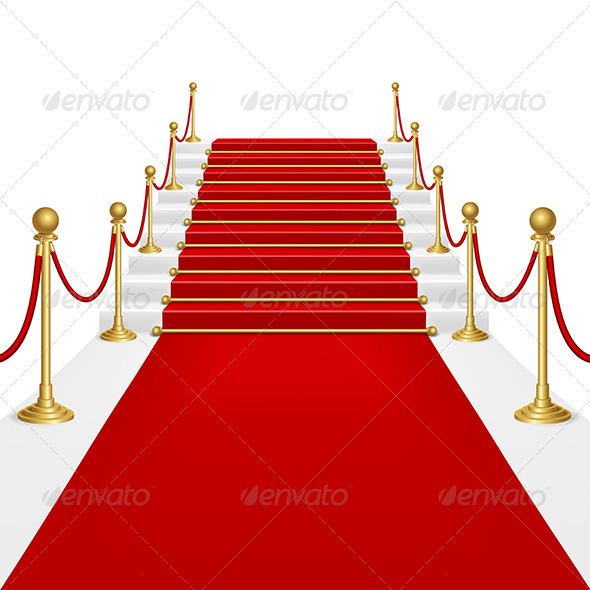 Red Carpet With Ladder  GraphicRiver