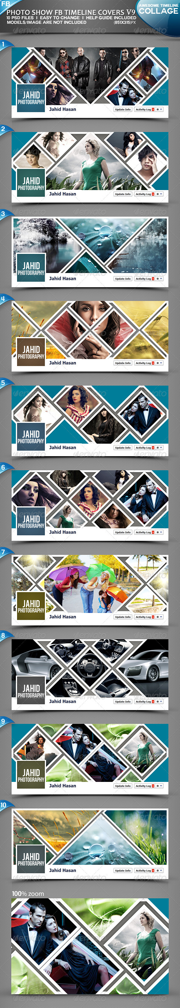 GraphicRiver Photo Display FB Timeline Covers V9 3801969