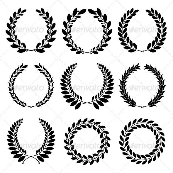 GraphicRiver Laurel wreath 3802095