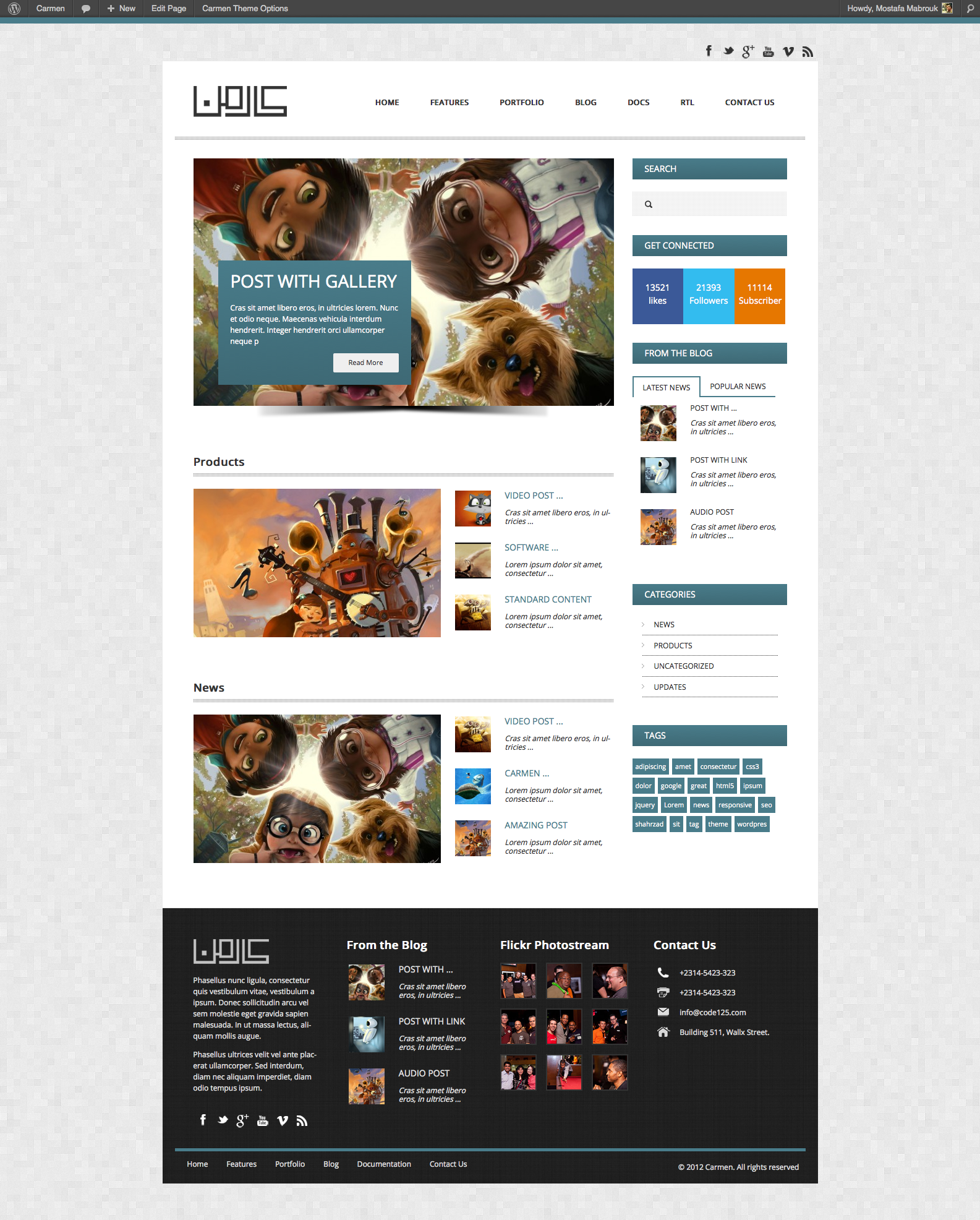 Carmen Multi-Purpose Responsive WordPress Theme