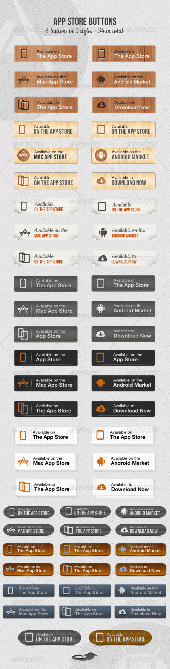 GraphicRiver App Store Download Buttons 3802805