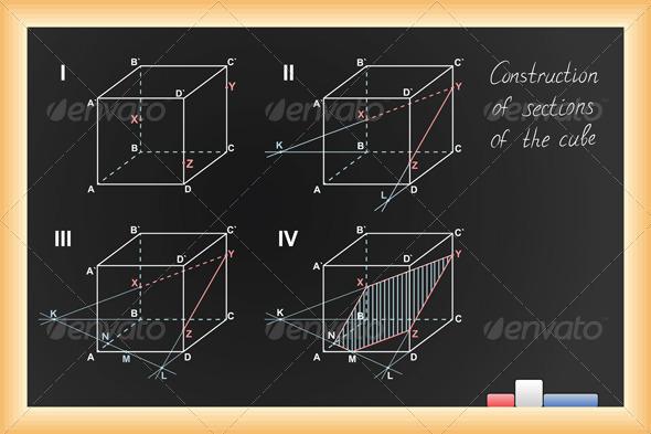 GraphicRiver Vector Black School Blackboard 3803180