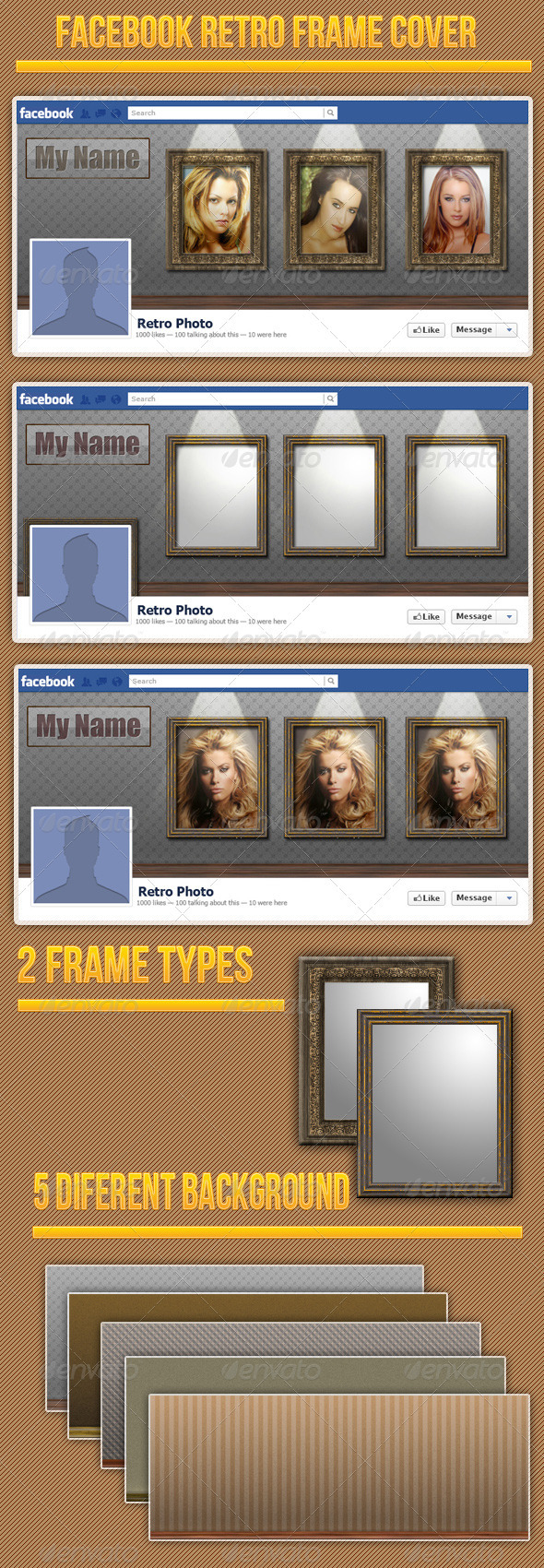 GraphicRiver Retro Frames Fb Cover 3803534