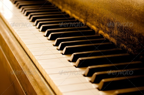 Stock Photo - PhotoDune Sepia-Toned Piano Keyboard 409836